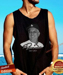 Los Angeles Dodgers Tommy Lasorda 1927 2021 Tank Top
