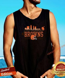Paint The Town Cleveland Browns Football Tank Top