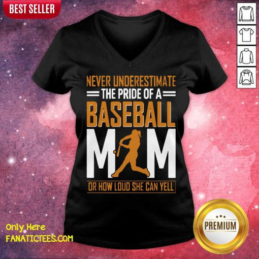 Mim De Baseball Quel Point Elle Peut Crier Fort Tata V-neck-Design By Fanatictees.com