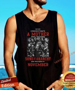 Never Underestimate A Mother Who Watches Sons Of Anarchy Tank Top- Design By Fanatictees.com