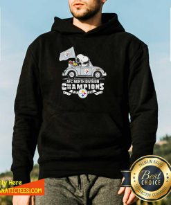 Snoopy And Woodstock Drive AFC North Division Champions 2020 Steelers Hoodie- Design By Fanatictees.com