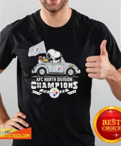 Snoopy And Woodstock Drive AFC North Division Champions 2020 Steelers Shirt- Design By Fanatictees.com