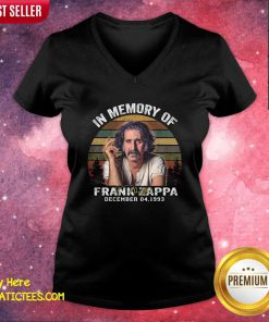 In Memory Of Frank Zappa December 04 1933 Vintage V-neck- Design By Fanatictees.com