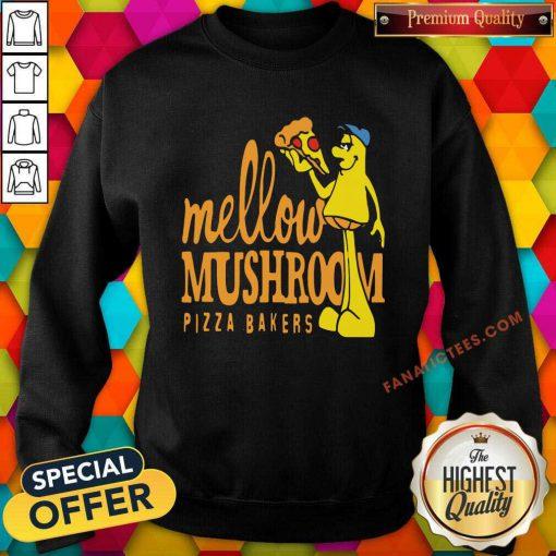 Mellow Climbing Merchandise Mushroom Pizza Bakers Sweatshirt
