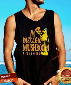Mellow Climbing Merchandise Mushroom Pizza Bakers Tank Top