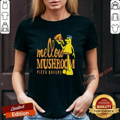 Mellow Climbing Merchandise Mushroom Pizza Bakers V-neck