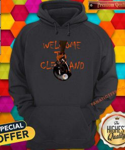 Welcome To Cleveland Browns Vs Pittsburgh Steelers Hoodie