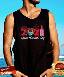 2021 Face Mask Happy Valentines Day Tank Top