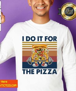 I Do It For The Pizza Weight Lighting Vintage Sweatshirt- Design By Fanatictees.com