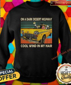 Elephant And Hippie Girl On A Dark Desert Highway Cool Wind In My Hair Vintage Sweatshirt-Design By Fanatictees.com