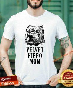 Velvet Hippo Mom Pitbull Shirt