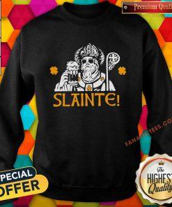 Slainte St Patricks Day Drinking Beer Lover Lucky Shamrock Sweatshirt