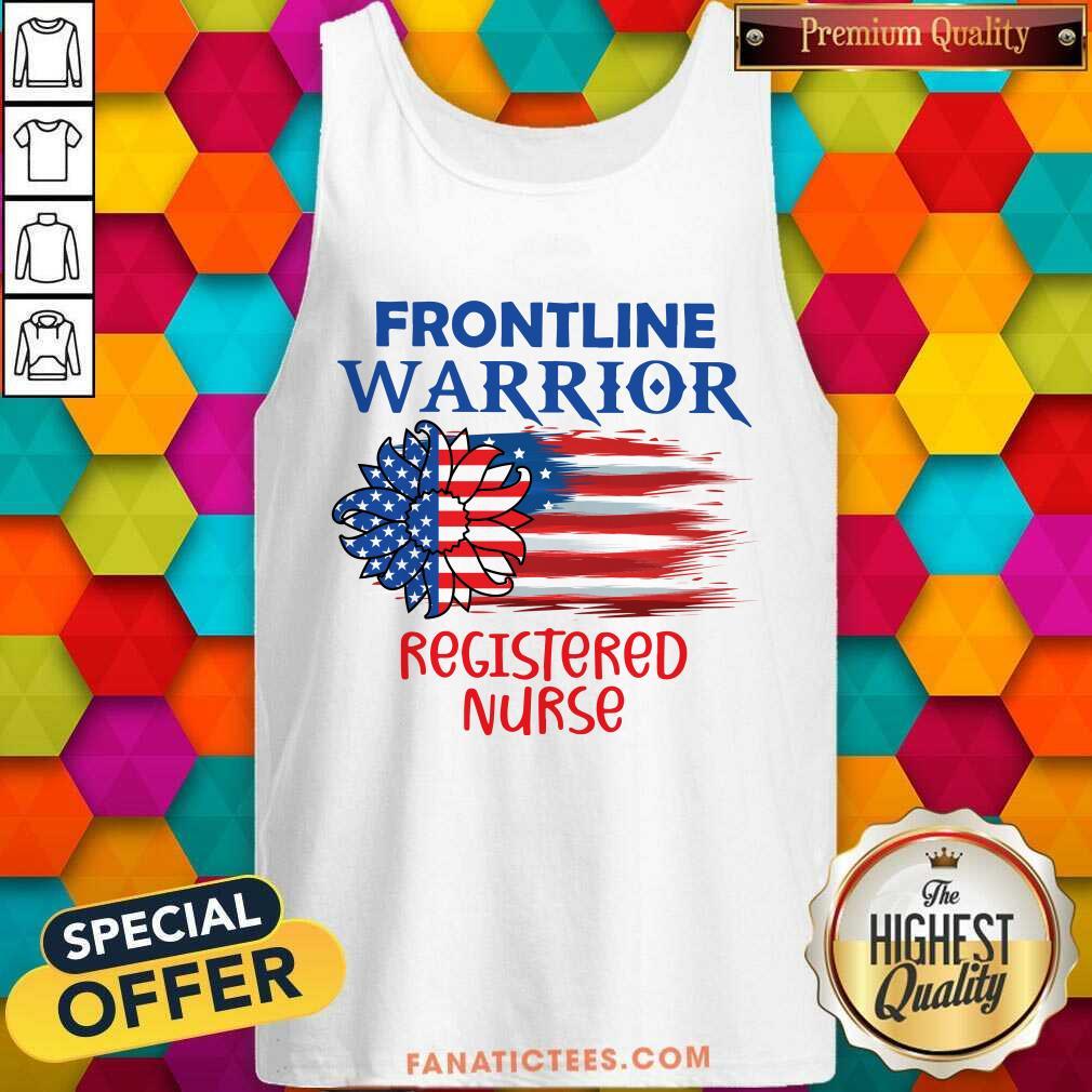 Flower Frontline Warrior Registered Nurse American Flag Tank Top