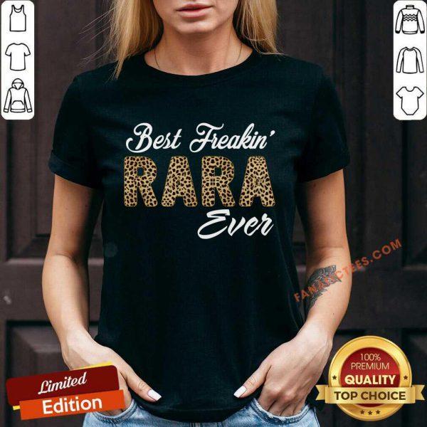 Leopard Print Best Freakin Rara Ever V-neck