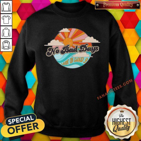 No Bad Days Retro Beach Natural SweatShirt
