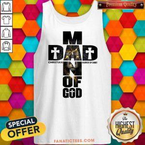 Dad Man Of God Christian Warrior Of Christ Tank Top