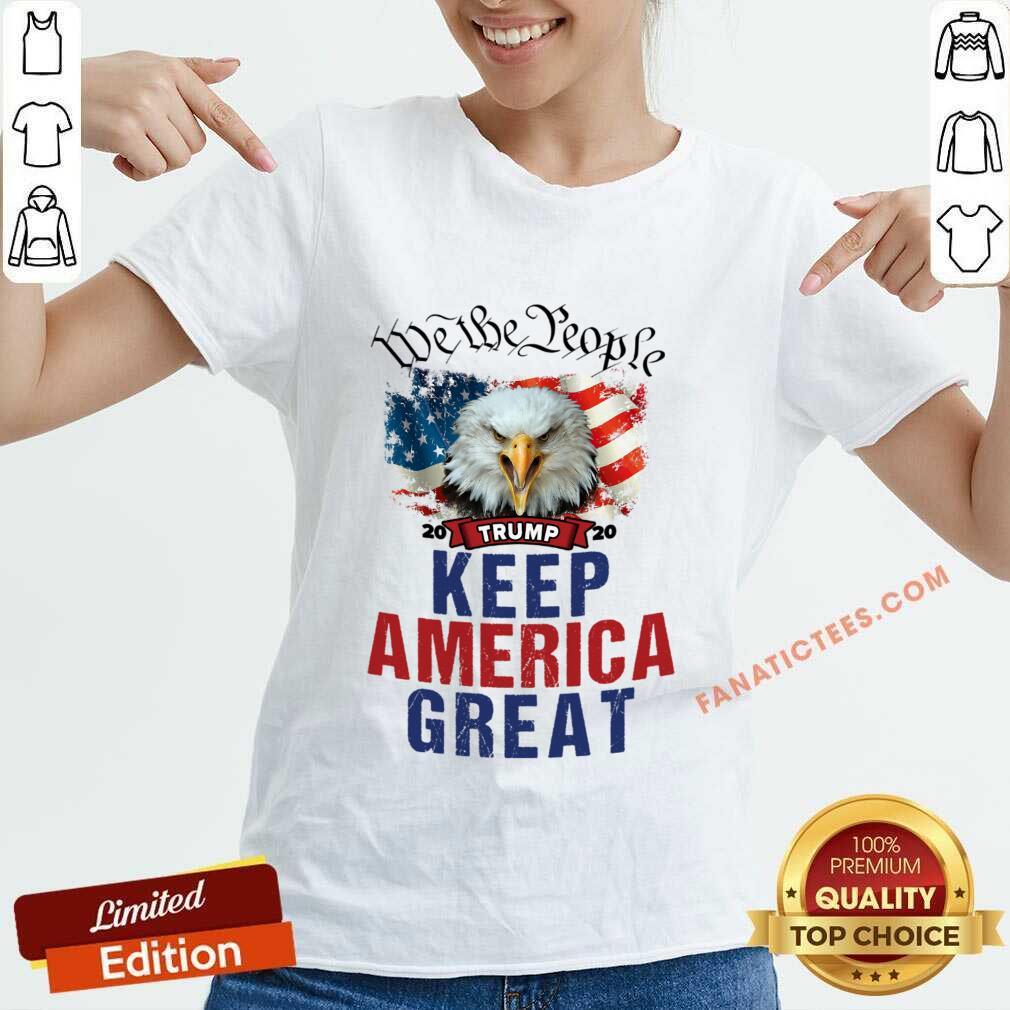 Eagle Trump 2020 We The People Keep America Great US Flag V-neck