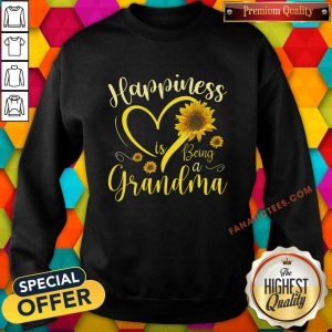 Happiness Is Being A Grandma Sunflower Sweatshirt
