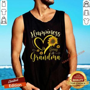 Happiness Is Being A Grandma Sunflower Tank Top