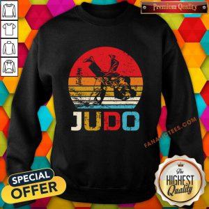 Judo Sunset Throw Vintage Sweatshirt