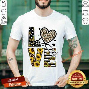 Love Nurse Life Sunflower Leopard Shirt