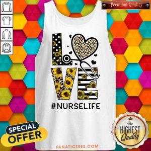 Nurse Life Love Nurse Life Sunflower Leopard Tank Top